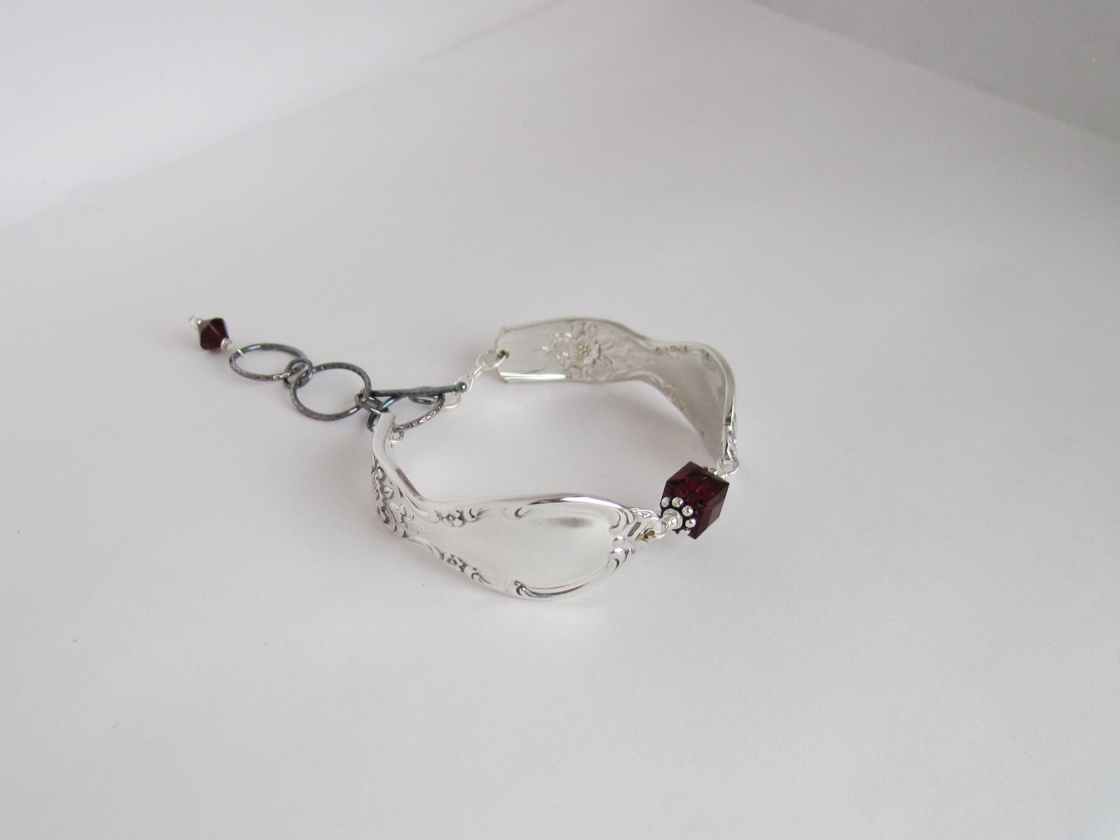 ring birthstone january sterling bracelet silver red jewelry pin handmade garnet everyday