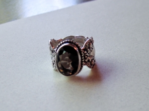 Smoky Quartz Silverware Ring